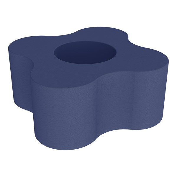 """Shapes Series II Vinyl Soft Seating - Gear Shape w/ Four Points (18"""" H) - Navy"""