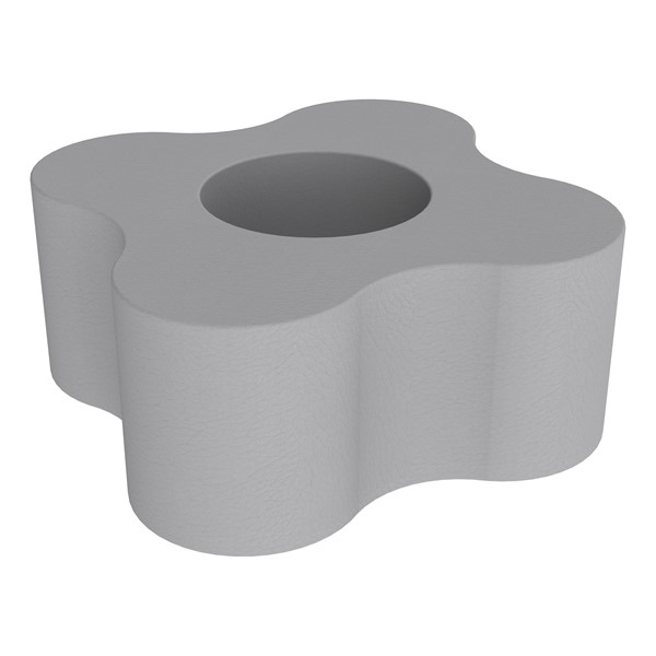 """Shapes Series II Vinyl Soft Seating - Gear Shape w/ Four Points (18"""" H) - Cool Gray"""