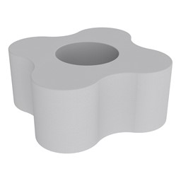 """Shapes Series II Vinyl Soft Seating - Gear Shape w/ Four Points (18"""" H) - Light Gray"""