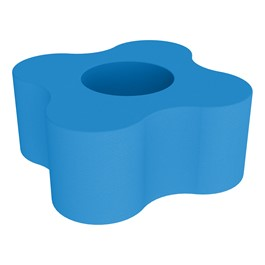 """Shapes Series II Vinyl Soft Seating - Gear Shape w/ Four Points (18\"""" H) - French Blue"""