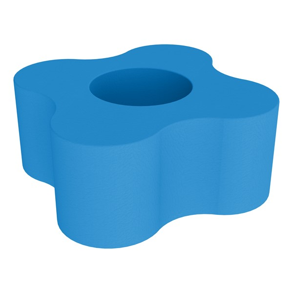 """Shapes Series II Vinyl Soft Seating - Gear Shape w/ Four Points (18"""" H) - French Blue"""