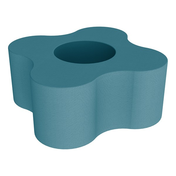 """Shapes Series II Vinyl Soft Seating - Gear Shape w/ Four Points (18"""" H) - Teal"""