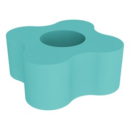 """Shapes Series II Vinyl Soft Seating - 4 Point Gear Shape (18"""" H) - Turquoise"""