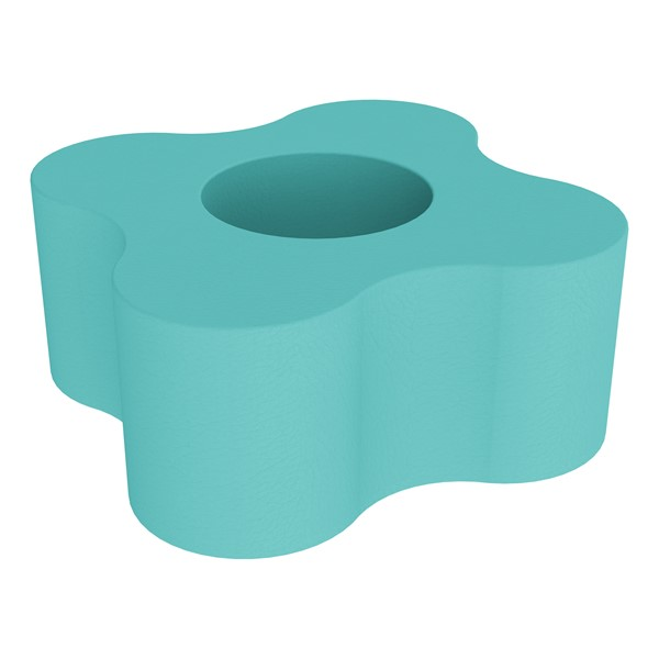 """Shapes Series II Vinyl Soft Seating - Gear Shape w/ Four Points (18"""" H) - Turqoise"""