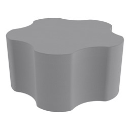 "Shapes Series II Vinyl Soft Seating - Gear Shape w/ Five Points (18"" H) - Cool Gray"