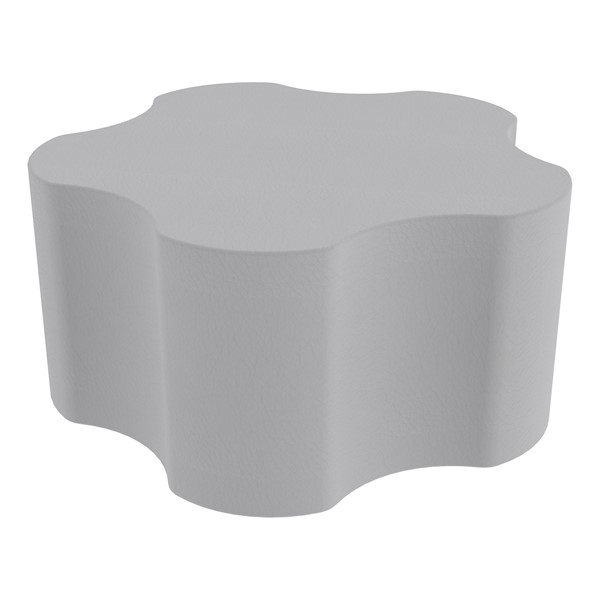 "Shapes Series II Vinyl Soft Seating - Gear Shape w/ Five Points (18"" H) - Light Gray"