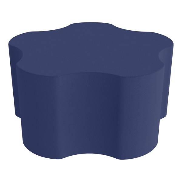 "Shapes Series II Vinyl Soft Seating - Gear Shape w/ Five Points (18"" H) - Navy"
