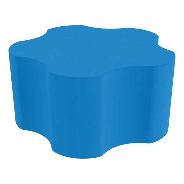 "Shapes Series II Vinyl Soft Seating - Gear Shape w/ Five Points (18"" H) - French Blue"