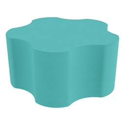 "Shapes Series II Vinyl Soft Seating - Gear Shape w/ Five Points (18"" H) - Turquoise"