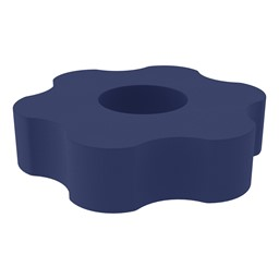 "Shapes Series II Vinyl Soft Seating - Gear Shape w/ Six Points (12"" H) - Navy"