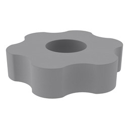 "Shapes Series II Vinyl Soft Seating - Gear Shape w/ Six Points (12"" H) - Cool Gray"