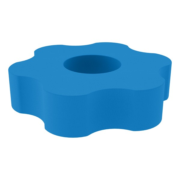 "Shapes Series II Vinyl Soft Seating - Gear Shape w/ Six Points (12"" H) - French Blue"