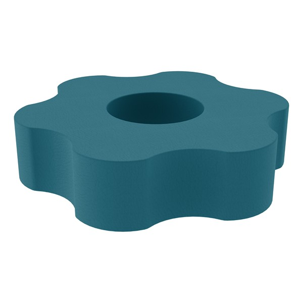 "Shapes Series II Vinyl Soft Seating - Gear Shape w/ Six Points (12"" H) - Teal"