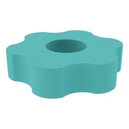 "Shapes Series II Vinyl Soft Seating - Gear Shape w/ Six Points (12"" H) - Turquoise"