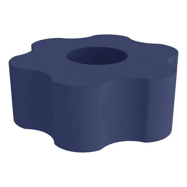 """Shapes Series II Vinyl Soft Seating - Gear Shape w/ Six Points (18"""" H) - Navy"""