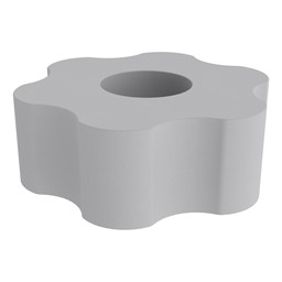 """Shapes Series II Vinyl Soft Seating - 6 Point Gear Shape (12"""" H) - Light Gray"""