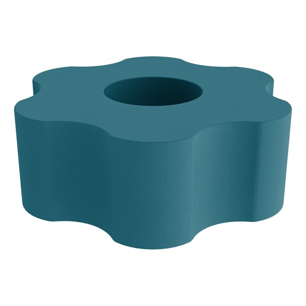 """Shapes Series II Vinyl Soft Seating - Gear Shape w/ Six Points (18"""" H) - Teal"""