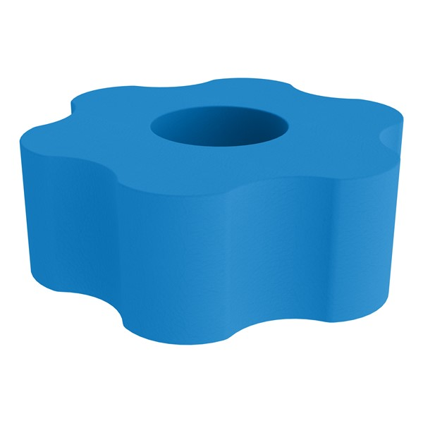"""Shapes Series II Vinyl Soft Seating - Gear Shape w/ Six Points (18"""" H) - French Blue"""
