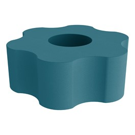 """Shapes Series II Vinyl Soft Seating - Gear Shape w/ Six Points (18\"""" H) - Teal"""