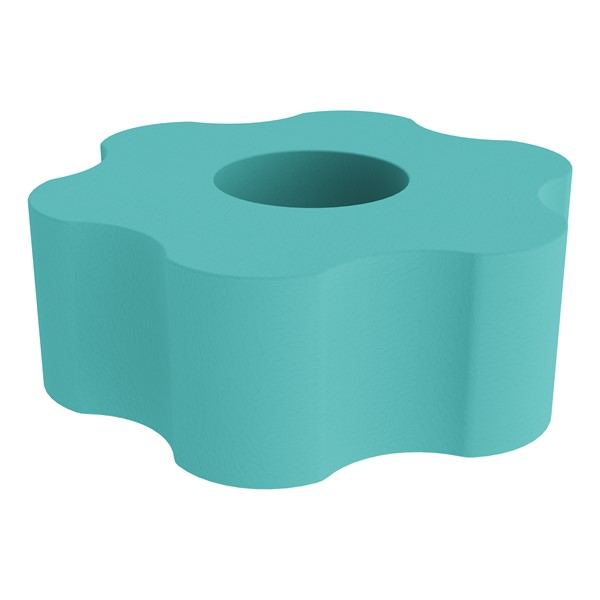 """Shapes Series II Vinyl Soft Seating - Gear Shape w/ Six Points (18"""" H) - Turquoise"""