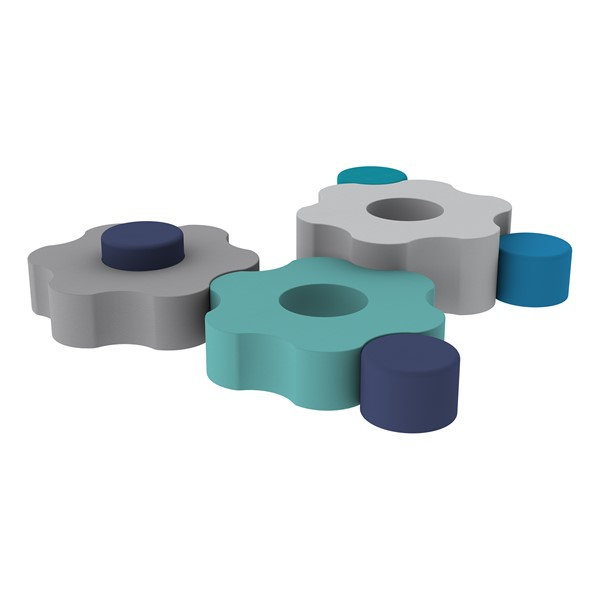 Shapes Series II Vinyl Soft Seating - Gear Shapes