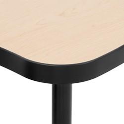 Structure Series Round Mobile Collaborative Table w/ Laminate Top - Edge
