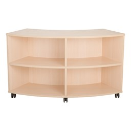 Shapes Series Curved Mobile Shelving