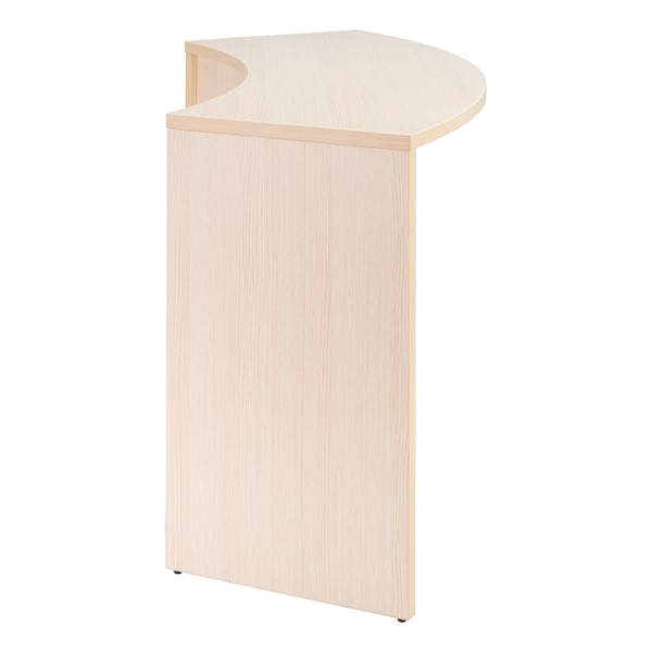 "Shapes Series Curved Media Table (30"" H) - Side View in Natural"
