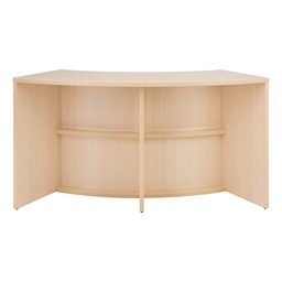 "Shapes Series Curved Media Table (30"" H) - Natural"