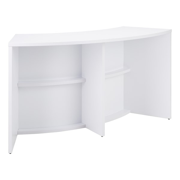"Shapes Series Curved Media Table (30"" H) - White"