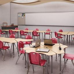 Boomerang Collaborative Desk w/o Wire Box - Group