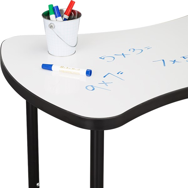 Structure Series Bow-Tie Mobile Collaborative Table w/ Whiteboard Top