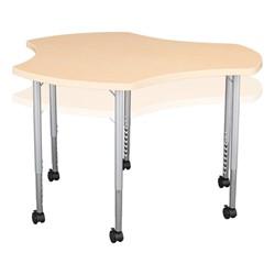 Crescent & Cog Mobile Collaborative Table Set - Cog - Adjustability