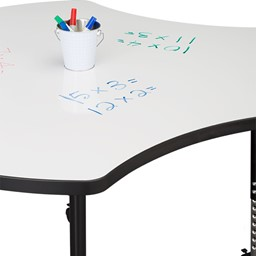 Structure Series Cog Mobile Collaborative Table w/ Whiteboard Top