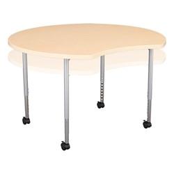 Crescent & Cog Mobile Collaborative Table Set - Crescent - Adjustability