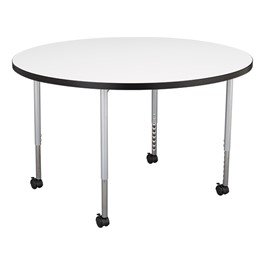 Learniture Structure Series Round Mobile Collaborative Table w
