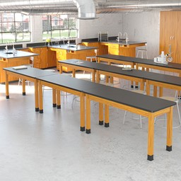 Science Lab Table w/ Chemical Resistant Top - Lab Setup