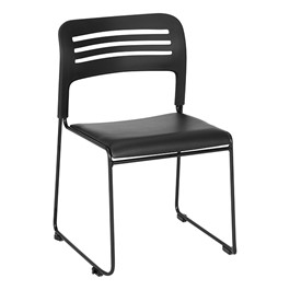 Learniture Wave Back Vinyl Seat Stack Chair