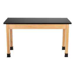 """Science Lab Table w/ Wood Legs & Chemical Resistance Top (24"""" W x 54"""" L)"""