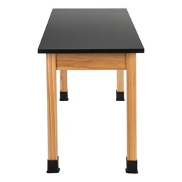 Science Lab Table w/ Chemical Resistance Top & Wood Legs