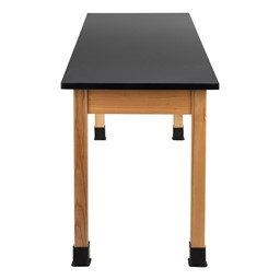 "Science Lab Table w/ Wood Legs & Chemical Resistance Top (24"" W x 72"" L)"
