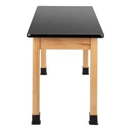 Science Lab Table w/ Wood Legs & High-Pressure Laminate Top