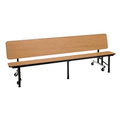 Mobile Convertible Bench Table w/ MDF Core & Protect Edge - Bench