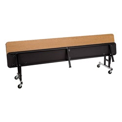 Mobile Convertible Bench Table w/ MDF Core & Protect Edge - Folded