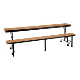 Mobile Convertible Bench Table w/ MDF Core & Protect Edge