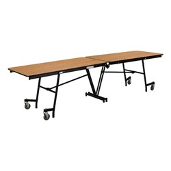 """Rectangle Mobile Cafeteria Tables w/ MDF Core, Protect Edge & Powder Coat Frame (30"""" W x 8' L x 29"""" H)"""
