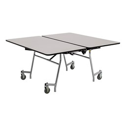 "New Square Mobile School Cafeteria Table (60"" W x 60"" L) - Gray"