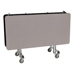 Square Mobile Cafeteria Table w/ Particleboard Core - Gray Nebula (folded view)