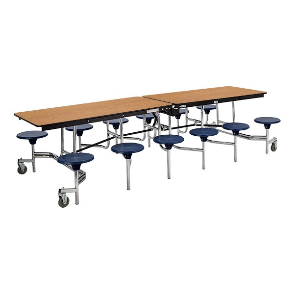 Mobile Stool Cafeteria Table w/ MDF Core & Protect Edge