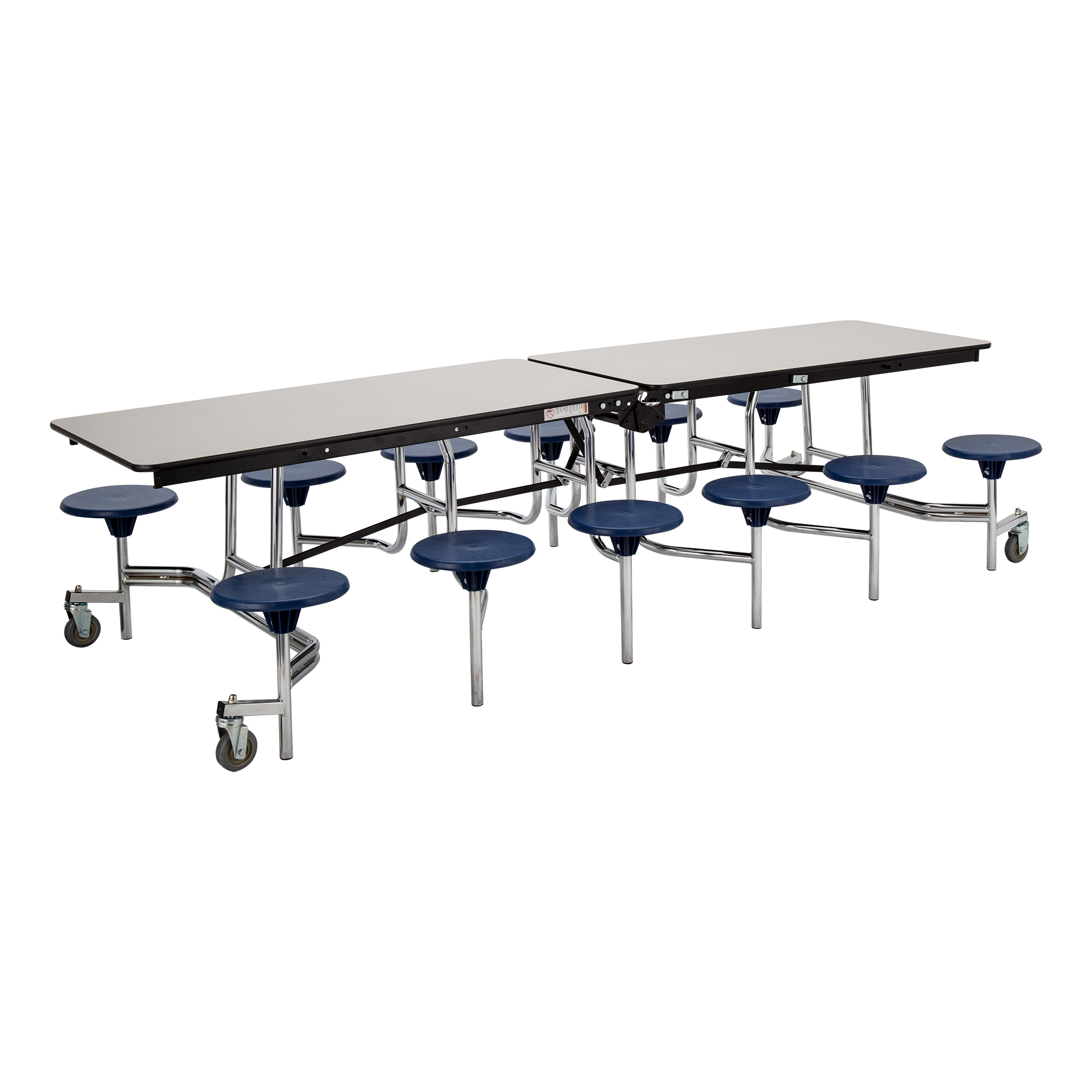Mobile Stool Cafeteria Table W/ Particleboard Core   Quick Ship